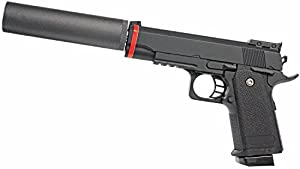 Les full metal Airsoft pistolet avec silencieux mod. A1