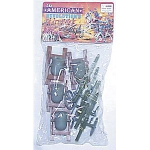 8 Piece Set of Cannon and Mortar Artillery for 48mm-60mm Plastic Army Men - 1