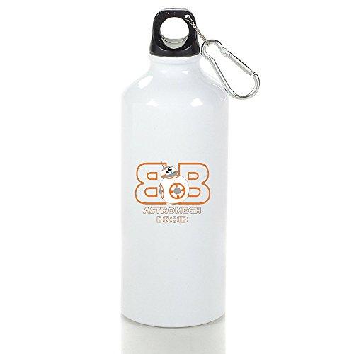 Aluminum BB-8 Astromech Droid R2-D2 Robot Sports Water Bottle