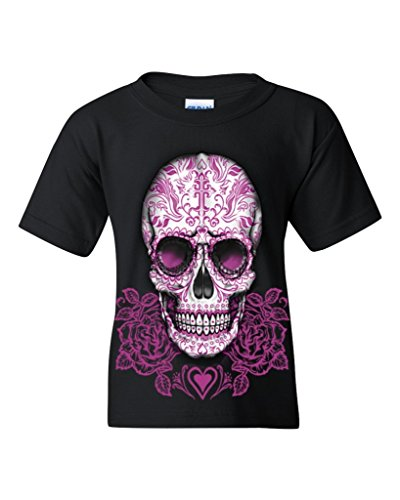 Set of Day Of Dead Black Youth's T-Shirt Sugar Skull Shirts