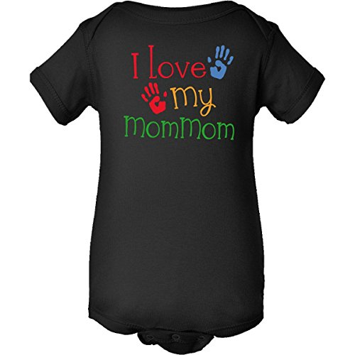 Inktastic I Love My Mommom Infant Creepers 6 Months Black front-647428