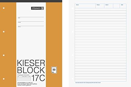 brunnen-1042927-kieser-block-lineatur-21-a4-50-blatt-liniert-80g-m-gelocht