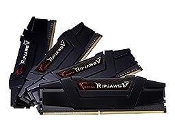 G.SKILL 16GB (4 x 4GB) Ripjaws V Series DDR4 PC4-25600 3200MHz For Intel Z170 Platform Desktop Memory Model F4-3200C16Q-16GVK