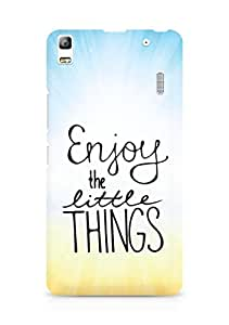 AMEZ enjoy the little things Back Cover For Lenovo K3 Note