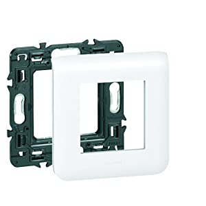 Legrand LEG99675 Plaque support pour 2 modules fixation à vis Mosaic