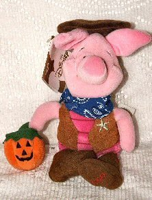 Disney Mini Bean Bag Cowboy Piglet - 1