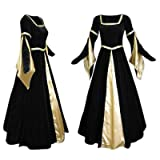 Artemisia Designs Medieval Renaissance Gown Black Velvet And Gold Satin Medium