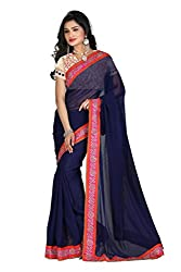 Gokul Vastra Georgette Saree (Pack of 8) (P-KT-3004_8_Blue)
