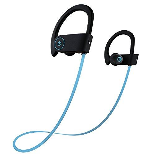 Earphones comfortable blue - earphones bluetooth sweatproof