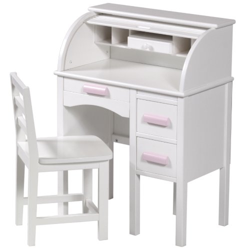 Guidecraft JR Roll Top Desk (White)