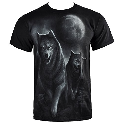 T Shirt Spiral Direct Wolf Pack Wrap (Nero) - Large