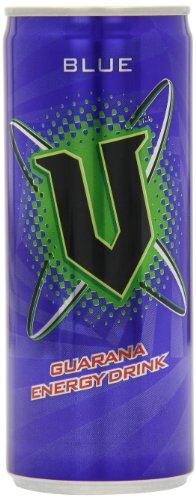 V Energy Blue Guarana Energy Drink 250 ml (Pack of 24)