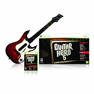 41h2%2B2aLkxL. AA300  Guitar Hero 5 Bundle With Guitar And Game (Xbox 360)   $39 + $0 Handling