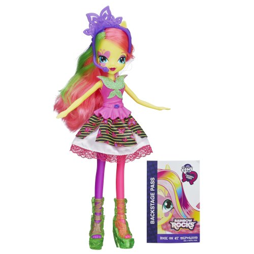 My Little Pony Equestria Girls Neon Rainbow Rocks Fluttershy Doll