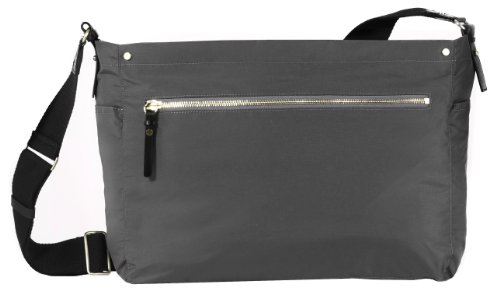 dwellstudio sullivan messenger bag charcoal diaper bags babies