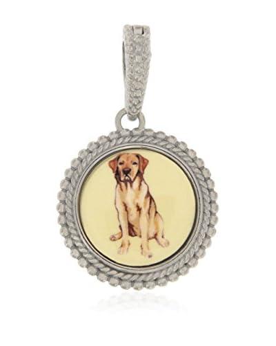 Momenti d'Argento Pendente Rosato Bead Dog Enhancer argento 925/Giallo
