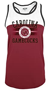 Buy NCAA South Carolina Fighting Gamecocks No Fear Scoop Neck Sleeveless Tank Top, Garnet, X-Large by SECTION 101 Majestic