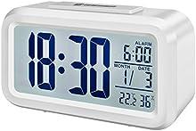 Comprar Bresser MyTime - Reloj despertador con pantalla LCD, color blanco (importado)