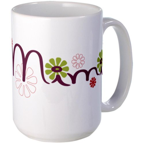 Cafepress Mimi With Flowers Large Mug Large Mug - Standard Multi-Color