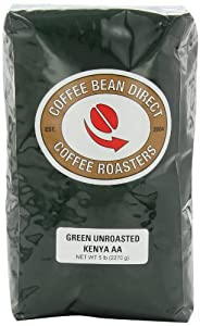 Green Unroasted Kenya AA, Whole Bean Coffee, 5-Pound Bag