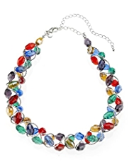 M&S Collection Multi-Faceted Assorted Bead Twist Necklace