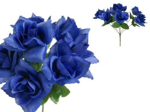 252 Royal Blue Silk Open ROSES Wedding Flowers Bouquets