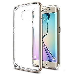 【Spigen】Galaxy S6 Edge ケース, ネオ・ハイブリッド CC [二重構造 背面 クリア] ギャラクシー S6 エッジ 用 (シャンパン・ゴールド SGP11526)