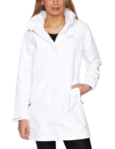 Helly Hansen Women's Long Aden Waterproof Jacket - White, X-Large