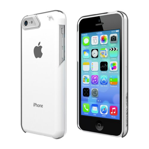 Tech Armor Slimprotect Grip Tough Scratch-Resistant Case / Cover For Iphone 5C (Clear/White) Lifetime Warranty