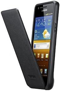 Samsung SAEFC1A2B - Funda de piel con tapa para Samsung Galaxy S II, color negro