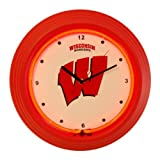 "Wisconsin Badgers 13"" Neon Clock at Amazon.com"