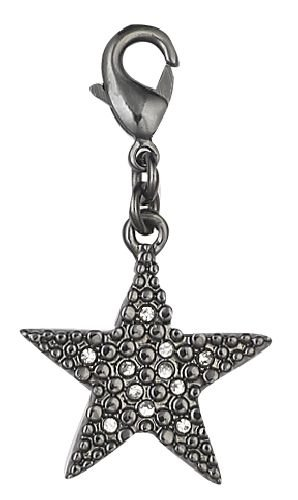 Pilgrim 560199 Pendant, Black Metal, Crystal