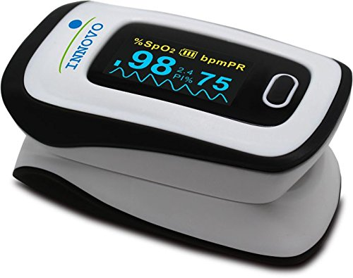 Innovo Deluxe Fingertip Pulse Oximeter with Plethysmograph and Perfusion Index -Newly released July 2015