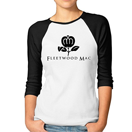 Fleetwood Mac Greatest Hits Women's Funny Baseball Shirt Raglan Sleeves (Fleetwood Mac Shirt Xxl compare prices)