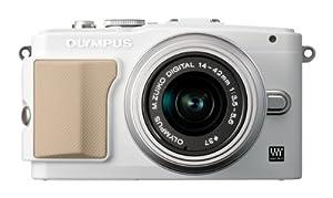 Olympus E-PL5 Interchangeable Lens Digital Camera with 14-42mm Lens (White)  - International Version (No Warranty)