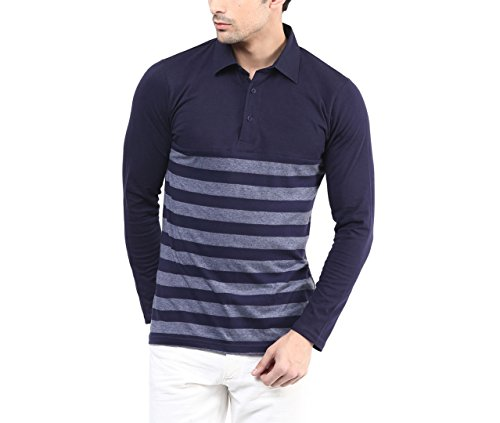 Hypernation-Blue-and-Grey-Stripe-Cotton-Polo-T-shirt