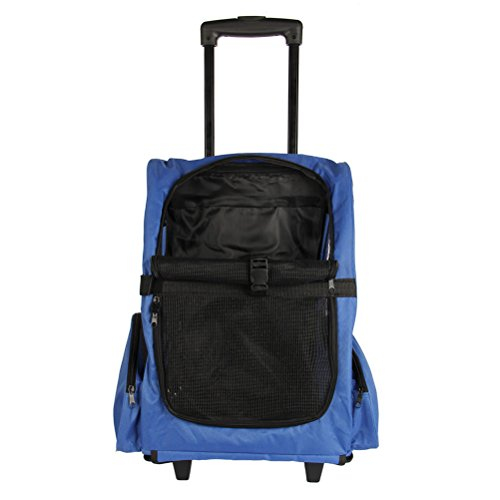 Antaprcis Pets Stroller Luggage Backpack Carriers for Cats Dogs Blue