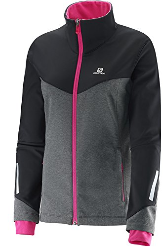 Salomon Women's Pulse Short Sleeve Jacket, Galet Grey/Black, Medium (Womens Cycling Salomon compare prices)