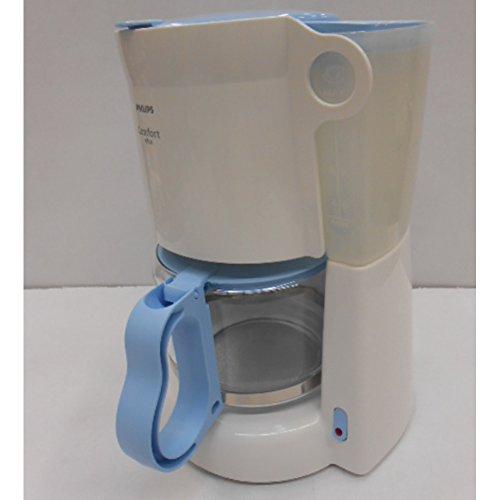 Philips HD 7444/12 Kaffeemaschine Comfort Plus 1,3 Liter Glaskanne weiß/hellblau