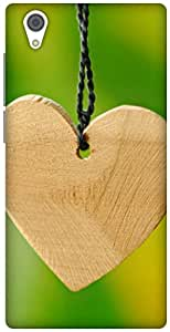 The Racoon Grip wooden hearts hard plastic printed back case / cover for Vivo Y51