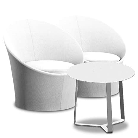Set Lisbon 2poltrone + tavolino rotondo Tex seduta sedili tische