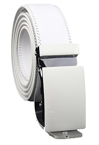 XHtang-Mens-Ratchet-Belt-White-Plane-Automatic-Buckle-35mm-Wide