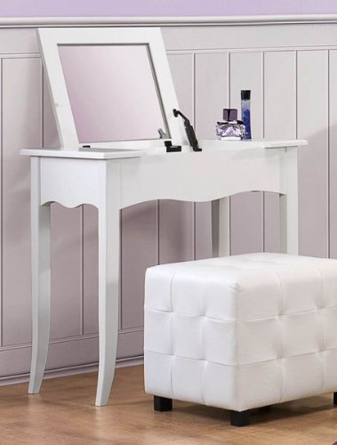 Vanity Desk w/Lift Top in White by Homelegance