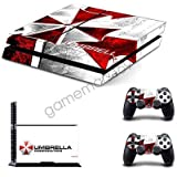 FidgetFidget for PS4 Skin Sticker Console Controller Decals Umbrella Resident Evil Game