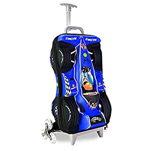 Fenza Racing Trolley - Childrens Carry-On Hand Luggage Racing Car Design 53x34x20cm Perfect for Ryanair and Easyjet (Blue)
