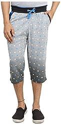 Broche Men's Cotton Capri (Broche8703_L, Grey, Large)