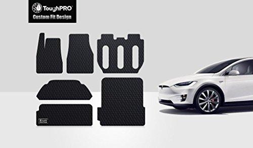 New ToughPRO Tesla Model X Floor Mats & Trunk Mats Set - All Weather - Heavy Duty- Black Rubber- 7 Seater - 2016-2017 (Tesla Model S Floor Mat compare prices)