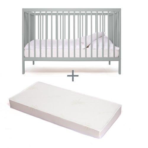 Babybett-kinderbett-Kombi-Kinderbett-moKee-stone-teal-mit-Matratze-kologisch