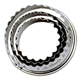 Set 3 Crinkled Pastry Cutters Stainless Steel by tala