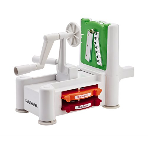 Farberware Spiraletti Spiral Vegetable Slicer with Three Colored Blades (Farberware Slicer compare prices)